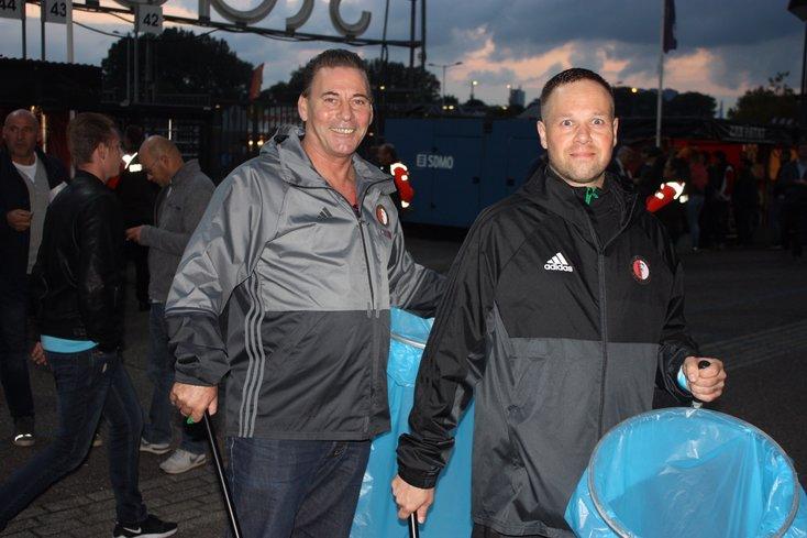 Feyenoord Sweepteam houdt De Kuip schoon