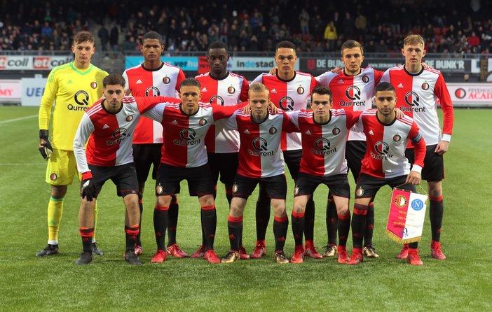 Feyenoord Onder 19 op 6 februari tegen FC Nitra