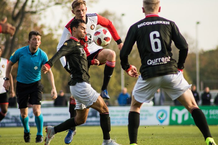 Stadsderby eindigt in domper voor Feyenoord O19