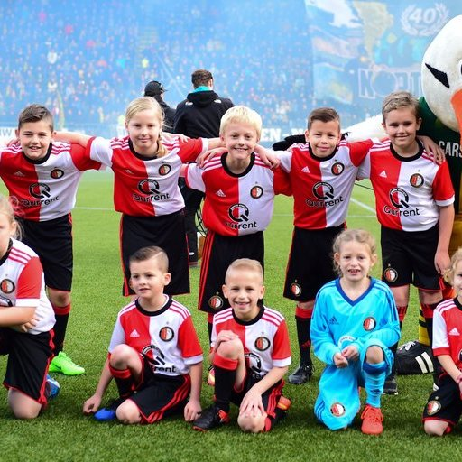 Wedstrijdmascottes ADO Den Haag - Feyenoord