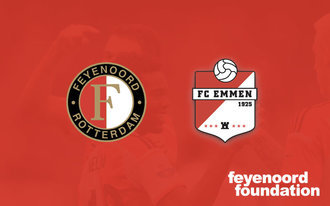 Feyenoord oefent tegen FC Emmen voor Feyenoord Foundation