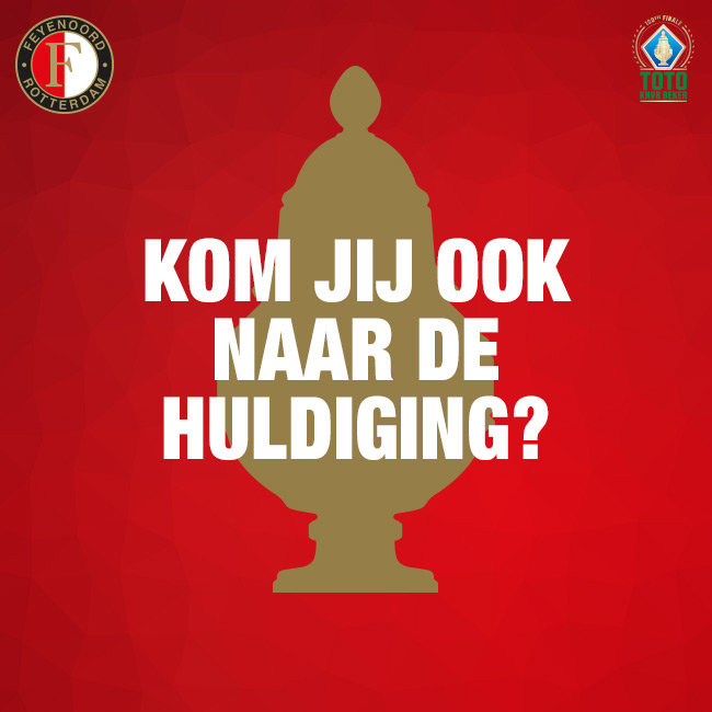 Lightbox huldiging in de kuip