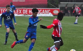 Feyenoord Onder 17 klopt PSV in Eindhoven