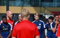 Feyenoord Onder 19 zet eerste stappen op nieuwe complex
