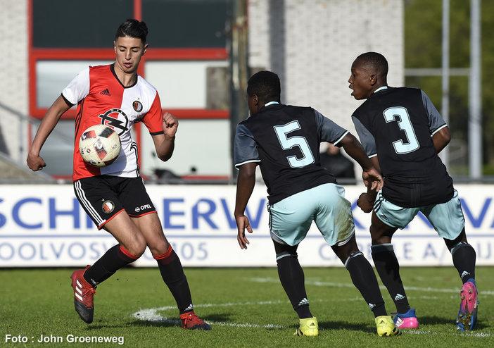 Feyenoord Onder 17 thuis ten onder tegen Ajax