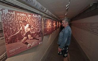 Oude spelerstunnel De Kuip 'vernieuwd'