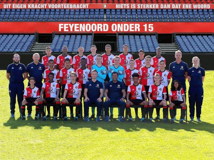Feyenoord Onder 15 plaatst zich niet voor bekerfinale