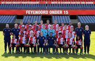Feyenoord Onder 15 pakt in extremis punt tegen koploper AZ