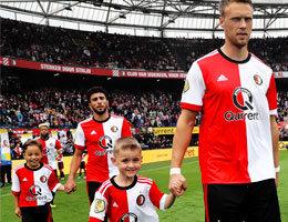 Kans maken om als spelersmascotte het veld op te lopen tijdens een wedstrijd van Feyenoord