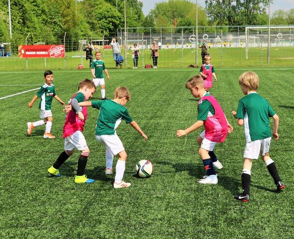 Train bij Feyenoord in de zomervakantie