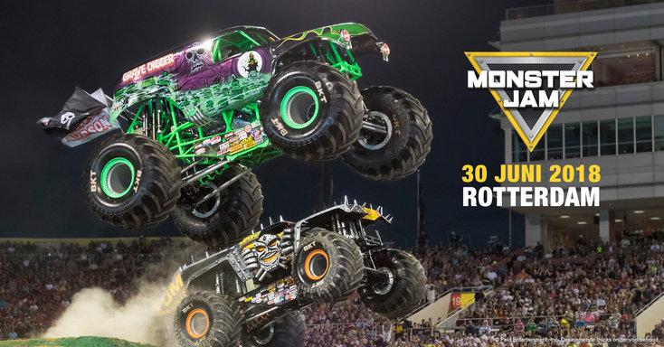 Monster Jam Rotterdam verplaatst naar 30 juni 2018
