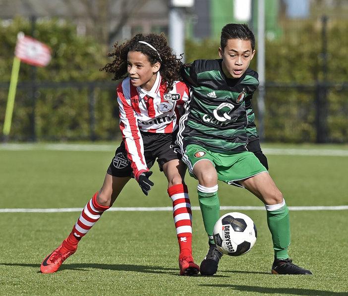 Feyenoord Onder 14 sterkste in stadsderby
