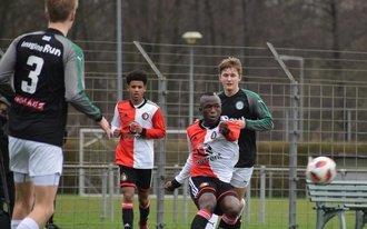 Feyenoord O17 laat zege glippen tegen FC Groningen
