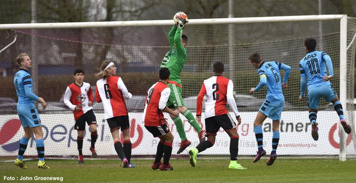 Feyenoord Onder 16 wint topper tegen AZ