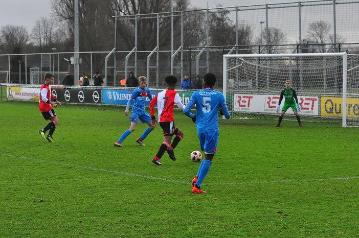 Feyenoord O17 wint laatste thuisduel voor winterstop