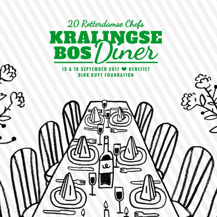 Brasserie De Kuip met afvaardiging naar Kralingse Bos Diner