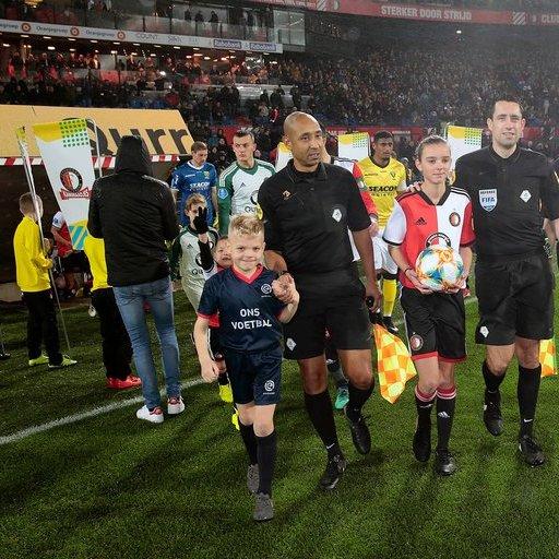 Wedstrijdmascottes Feyenoord - VVV Venlo