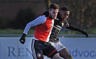 Feyenoord Onder 19 schrikt te laat wakker tegen N.E.C.